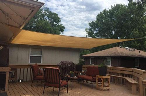 Artpuch Rectangle Sun Shade Cloth for Garden & Outdoor Activities