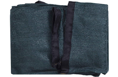 DIR UV Black/Green Shade Cloth with Grommets - 20ft x 24ft