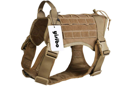Outdoor Hiking Tactical Dog Harness - Military K9 Working Dog Vest