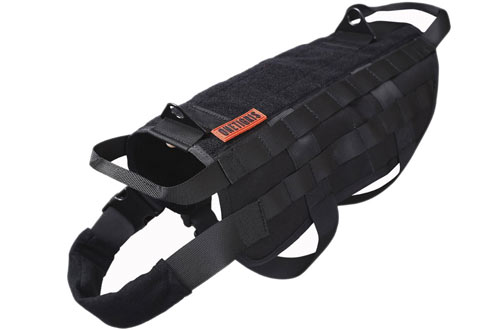 OneTigris Tactical Dog Training Harnesses with Mesh Padding & Handles