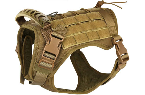 Military Tactical Dog Vest Harness for Outdoor Training with Handle