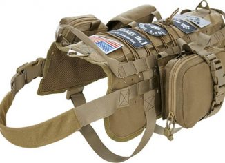 VIVOI Tactical Military Molle Dog Vest with Detachable Pouches