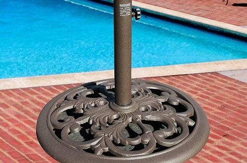 TropiShade Bronze Powder-Coated Cast Iron Stand