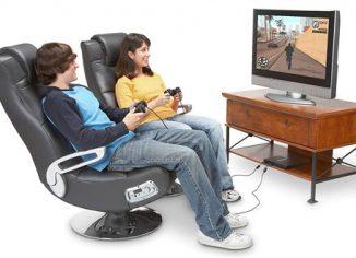 Ace Bayou X Rocker 5127401 Pedestal Wireless Video Gaming Chair