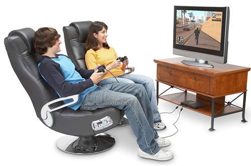 Ace Bayou X Rocker 5127401 Pedestal Wireless Video Gaming Chair