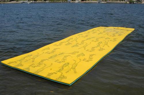 Aqua Lily Pad Bullfrog Floating Foam Pad