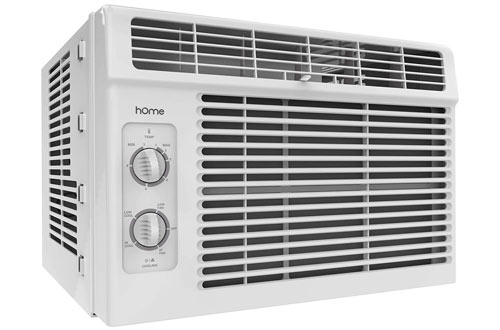 hOmeLabs 5000 BTU Small Quietest Window-Mounted Air Conditioner