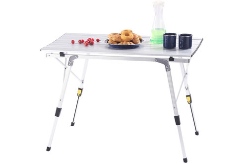 CampLand Aluminum Folding Table for Camping & Picnic