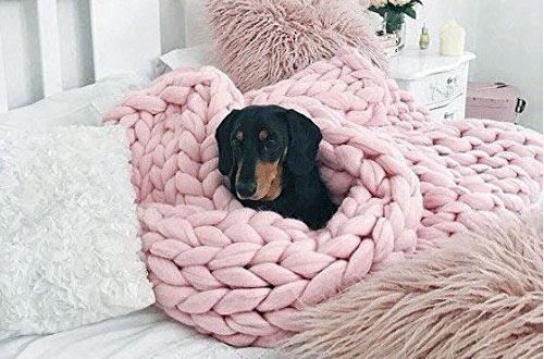 AixingyunSuper LargeMerino WoolKnit Blanket