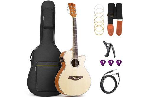 Vangoa Acoustic Electric Guitar Beginner Kit
