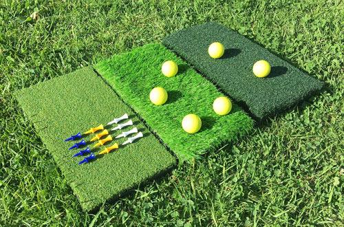 Skylife Portable 3-Turf Golf Hitting Grass Mat