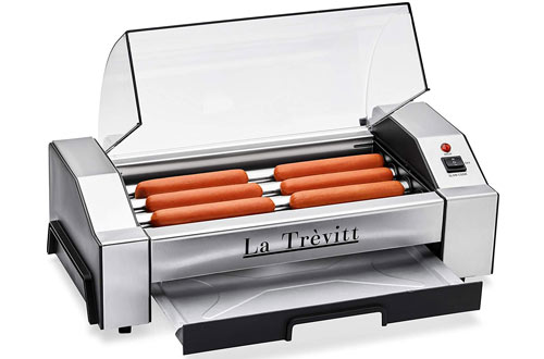 La Trevitt Commercial and Household Hot Dog Roller Machine for Family Use
