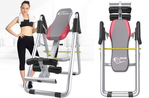 HYD-Parts Adjustable Folding Therapy Back Inversion Table for Home Exercise
