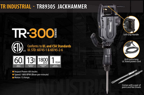 TR Industrial 60 Joules Electric Jack Hammer for Demolition