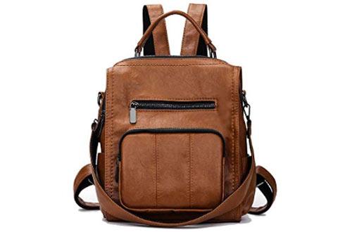 Mynos Women Leather Handbag -Travel Tote Shoulder Bag