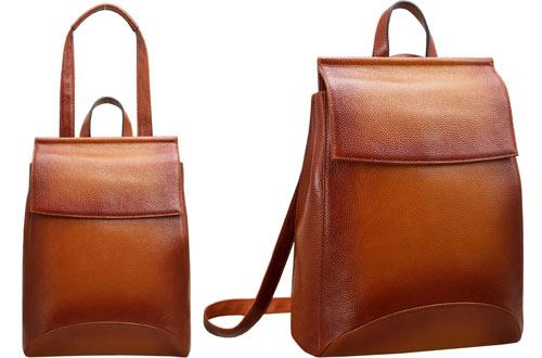 Heshe Ladies Leather Backpack Purse