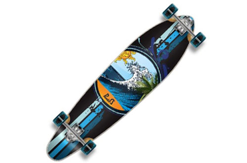Yocaher Punked Graphic Complete Longboard Skateboard