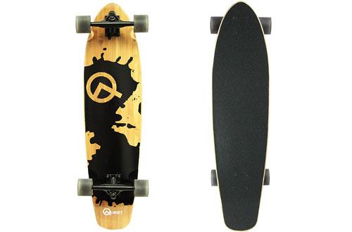 Quest Rorshack 34-Inch Bamboo Longboard Skateboard
