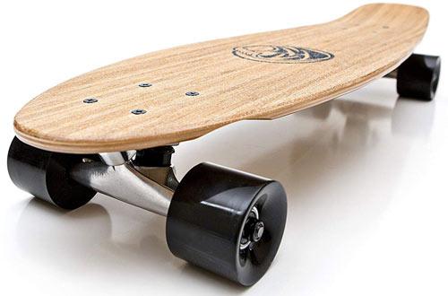 White Wave Bamboo LongboardSkateboard