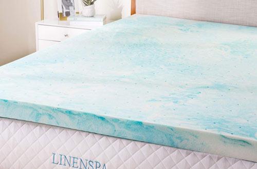 Linenspa 3-Inch Gel Swirl Memory Foam Topper - King