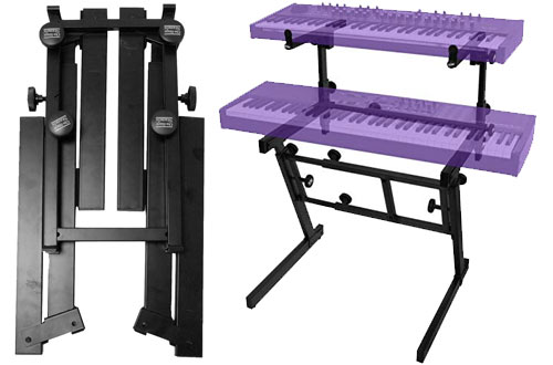 On-Stage Pro Heavy-Duty Folding-Z Keyboard Stand with 2nd Tier