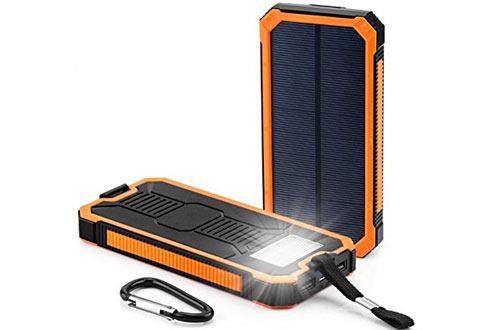 Waterproof 300000mAh Portable Dual USB Solar Battery Power Bank