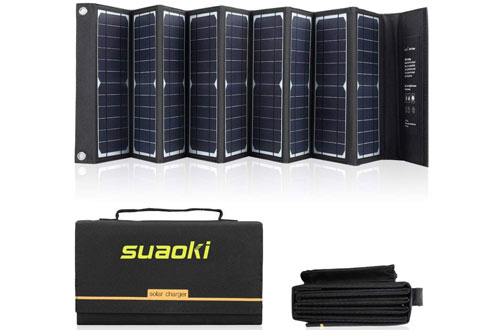 SUAOKI Portable Foldable Solar Panel Charger for Laptop, iPhone, Camera & More