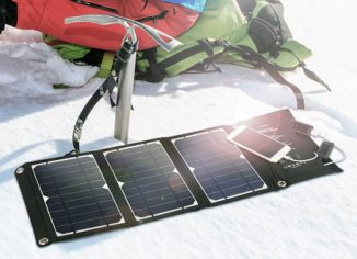RAVPower Foldable Solar Power Bank Charger for iPhone, Samsung & iPad