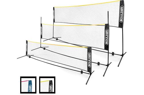 Boulder Portable Badminton Net Setfor Tennis, Soccer Tennis, Pickleball & Volleyball
