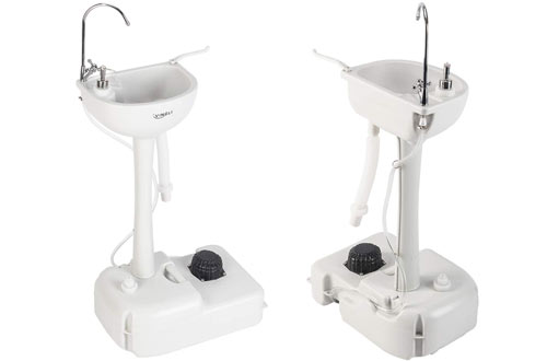 VINGLI Portable Sink - Rolling Hand Wash Basin Stand for Garden, Camping & Outdoor Events