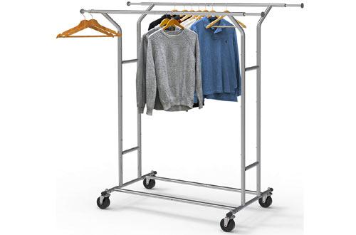 Simple Houseware Heavy Duty Double Rail Clothing Rack