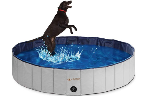 PUPTECK Foldable Dog Swimming Pool - Outdoor Pet Bathing Tub