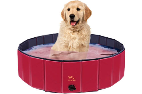 Zacro Foldable Large Dog Swimming Pool - Pet Dog Paddling Bath Pool