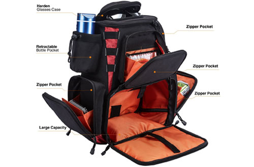 Piscifun Waterproof Fishing Backpack with Tackle Bag Storage