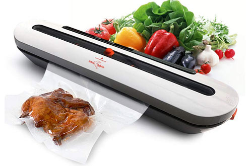 White DolphinAutomatic Air Sealing System for Food Storage