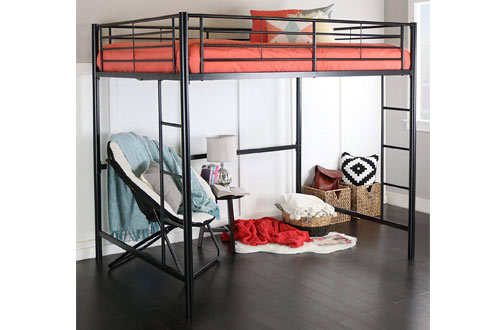 Home Accent Furnishings Full Over Loft Black Metal Framed Bed