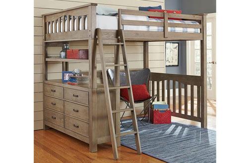 NE Kids Full Loft Bed with Storage