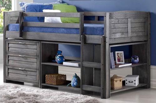 Donco Kids 790-TAG-B Louver Twin Low Loft Bed