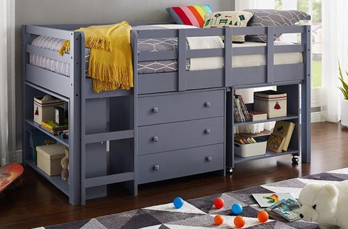 Naomi Home Twin Low Study Loft Bed