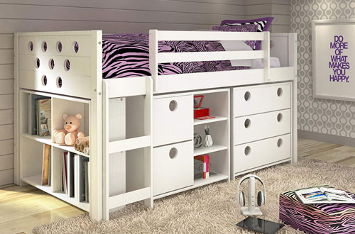 DONCO KIDS Twin Circles Modular Low Loft Bed