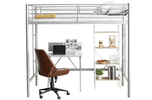 Safstar Metal Twin Size Loft Bunk Bed with Ladder Bedroom