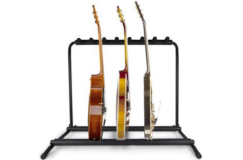Pyle Multi Guitar Stand - Foldable Universal Display Rack