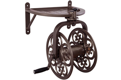 Liberty Garden 710 Navigator Rotating Garden Bronz Hose Reel
