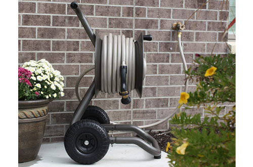Rapid Reel Garden Hose Reel Cart with Two Wheels