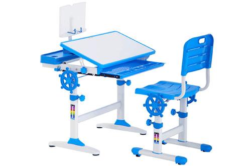 FDWErgonomic Height Adjustable Study Desk for Kids