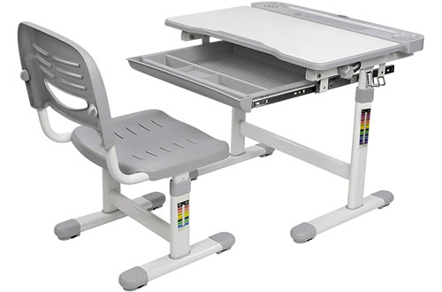 Mount-It! Height Adjustable Ergonomic Desk for Kids