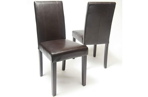 Roundhill Furniture Urban Style Solid Wood Leatherette Padded Chair