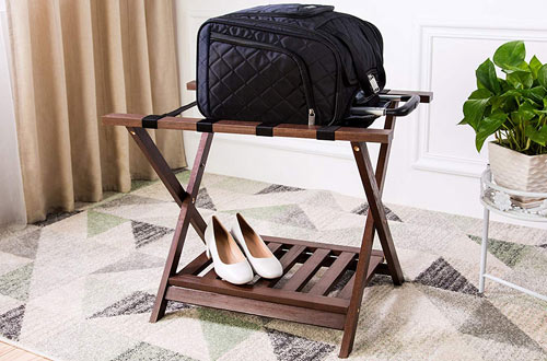 AmazonBasics Folding Wooden Suitcase Stand
