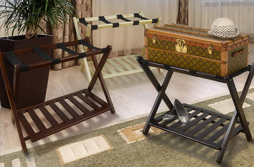 Casual Home Wooden Luggage Rack