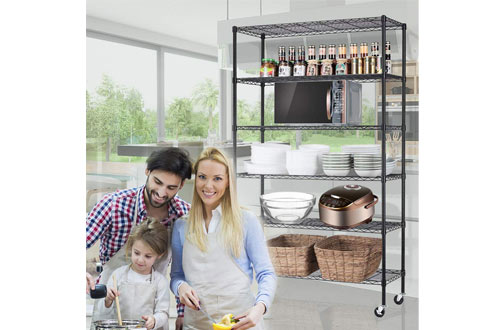 Meet Perfect Storage Metal Shelf Wire Shelving Unit with Wheels